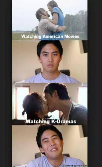 k drama cry meme
