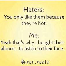 haters kpop hot buying albums