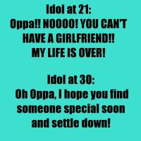 idol age dating girlfriend oppa