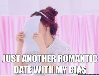 romantic date with bias meme