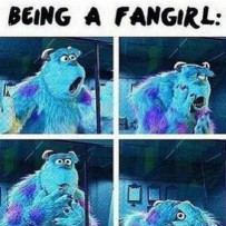 Being a fangirl meme