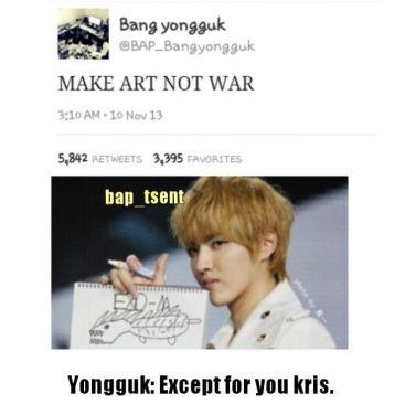 kris bang yong guk exo b.a.p meme