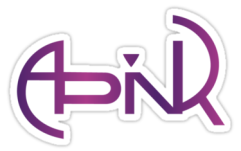 a pink logo